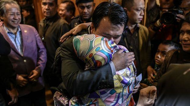 There were emotional reunions in Kuala Lumpur airport as Malaysians citizens returned home from North Korea