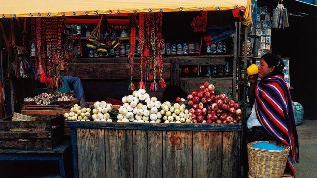 Foto de puesto callejero en México