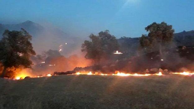 آتشسوزی در اندیکا در خوزستان