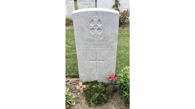 Nellie Spindler's grave