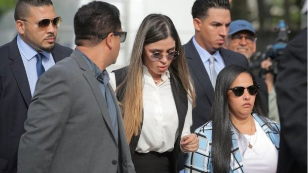 Guzmán's wife Emma Coronel attends the trial in New York. Photo: 17 July 2019