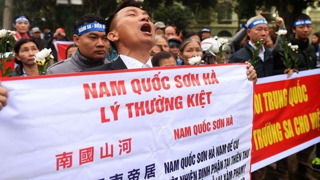 Biểu tình chống Trung Quốc ở Hà Nội 19/1/2017