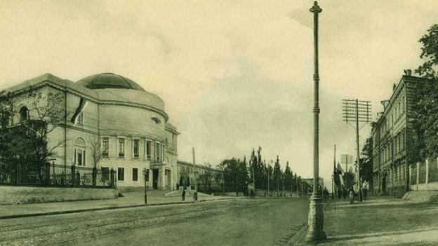 Педагогический музей, в котором заседала Центральная Рада, возглавляемая М. Грушевским