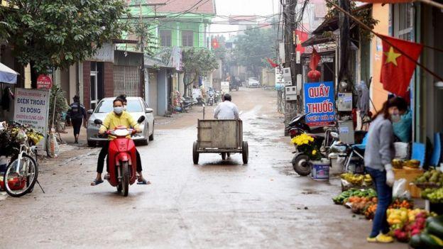 Đường làng ở xã Sơn Lôi, huyện Bình Xuyên, tỉnh Vĩnh Phúc hôm 13 /2/2020.