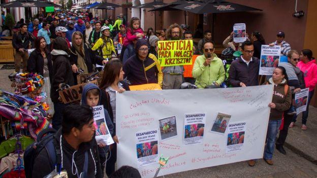 Una marcha en San Cristóbal