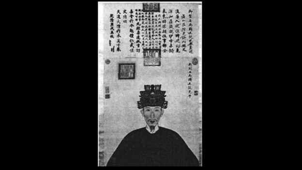 Hình vẽ 'vua Quang Trung' từ tư liệu của Trung Quốc, ảnh do ông Trần Quang Đức công bố