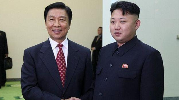 中國國家副主席和朝鮮領導人金正恩