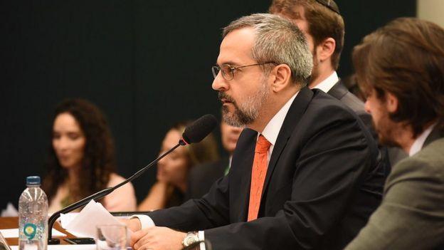 Abraham Weintraub em audiência na Câmara em dezembro