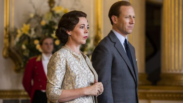 Olivia Colman and Tobias Menzies in The Crown (2019)