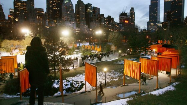 """""""The Gates"""" in New York's Central Park"""