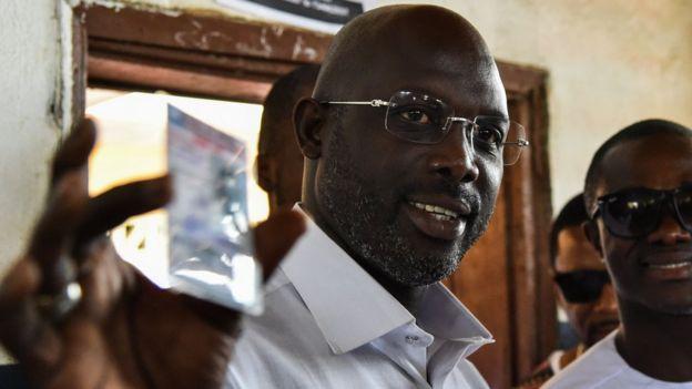 Liberia Election: George Weah don go T B Joshua church - BBC