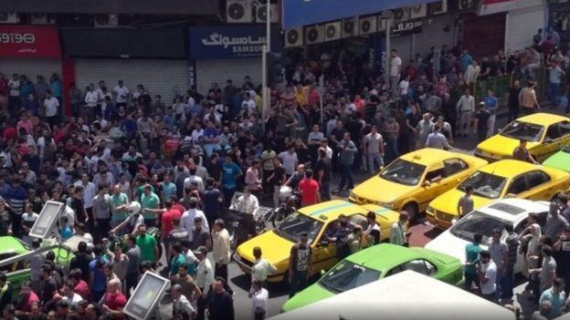 إيران شهدت احتجاجات في يونيو/حزيران بسبب الأوضاع الاقتصادية