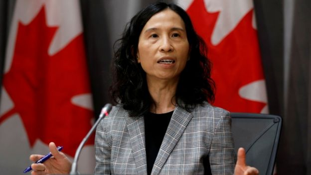 Canada's Chief Public Health Officer Theresa Tam at a news conference in March 2020