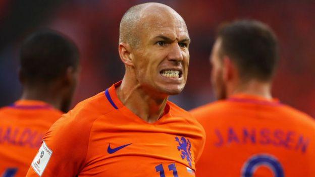 Un jugador holandés enojado