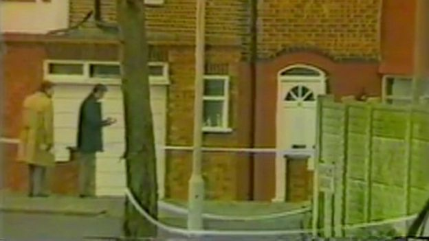 The scene of Gérard Hoarau's murder in Edgware in London