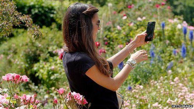 selfie in garden