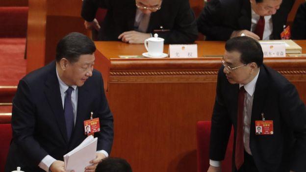 習近平(左)和李克強