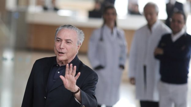 Michel Temer deixa hospital após cirurgia, em São Paulo