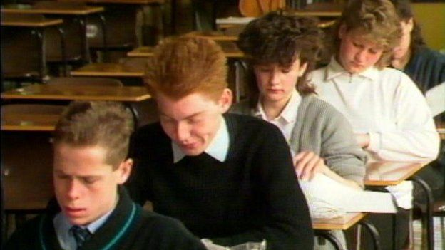 The first GCSE year in 1988