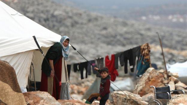 اللاجئون فى سوريا