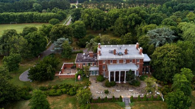 Mansión del gobierno ruso en el estado de Maryland.