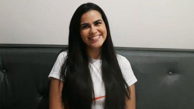 A estudante Ívina Araujo