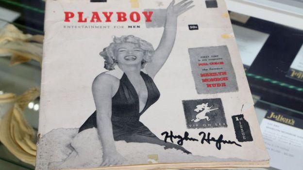 Edisi pertama bertanda tangan Playboy