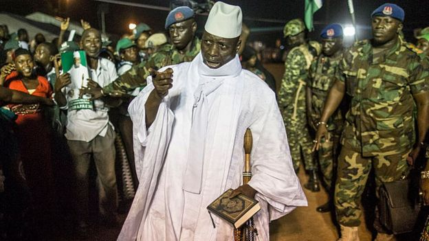 President Yahya Jammeh in November 2016