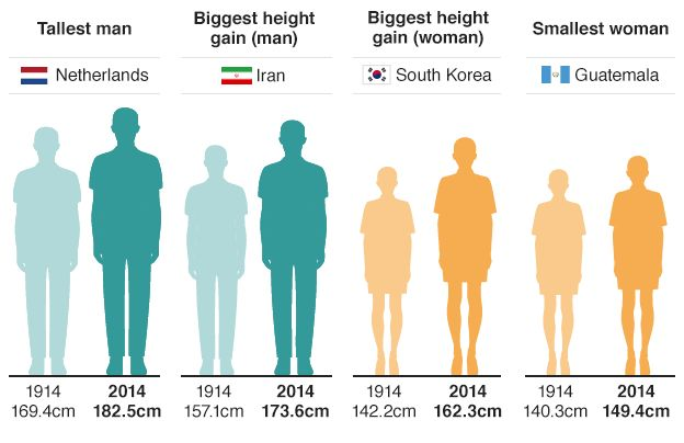 Average height for australian women