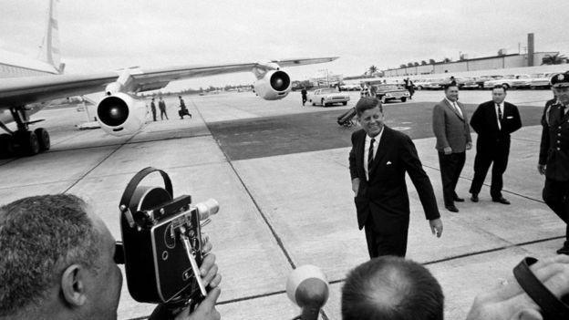 الرئيس جون كينيدي في بالم بيتش