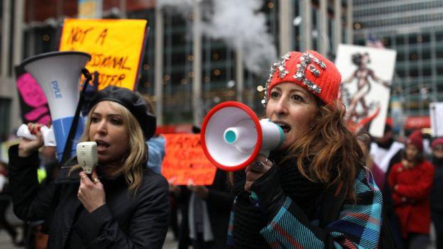 Marcha de la Mujer en Nueva York.