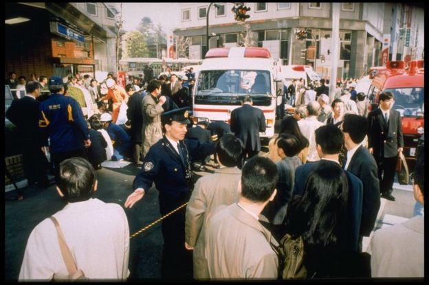 Tokio durante el ataque de 1995.