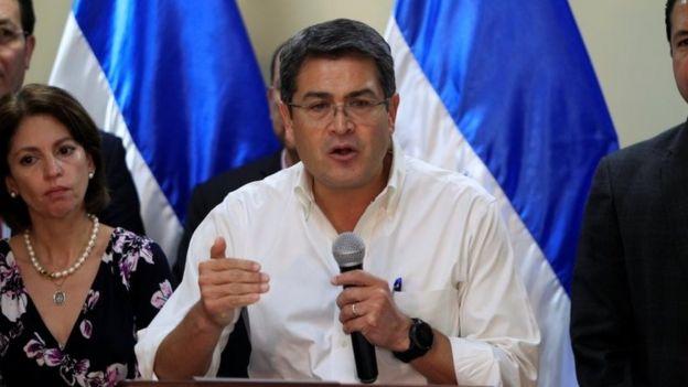 Presidente de Honduras, Juan Orlando Hernández.