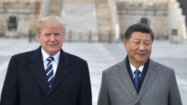 Trump y Xi en Pekín.