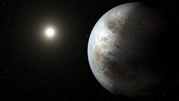Nasa handout photo of an artist's impression of Kepler-452b