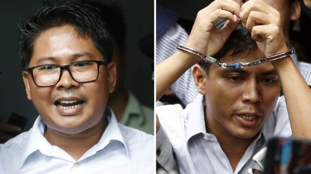 Wa Lone (L) and Kyaw Soe Oo (R)