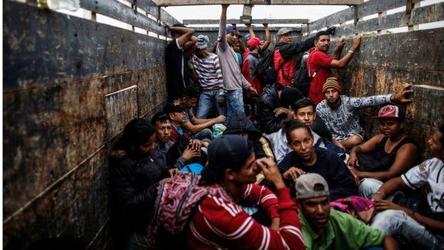 Venezuelanos em condições precárias