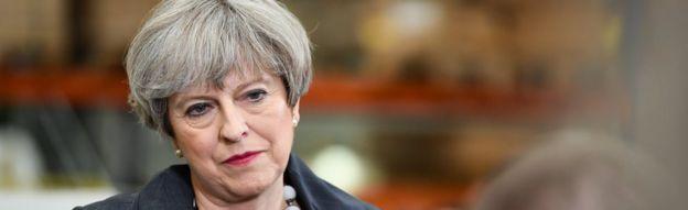 Theresa May in Pontefract, UK, 1 June 2017