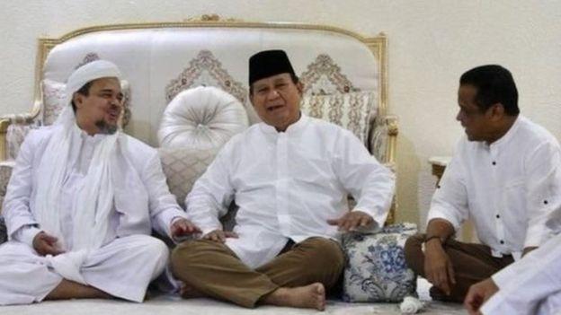 Rizieq Shihab dan Prabowo Subianto