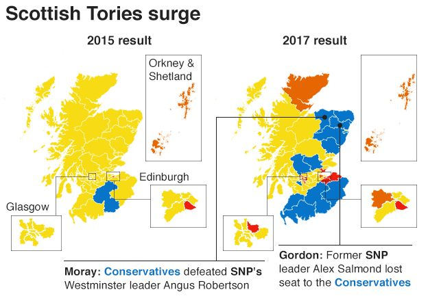 Map Of Uk Votes 2015.General Election 2017 Snp Lose A Third Of Seats Amid Tory Surge