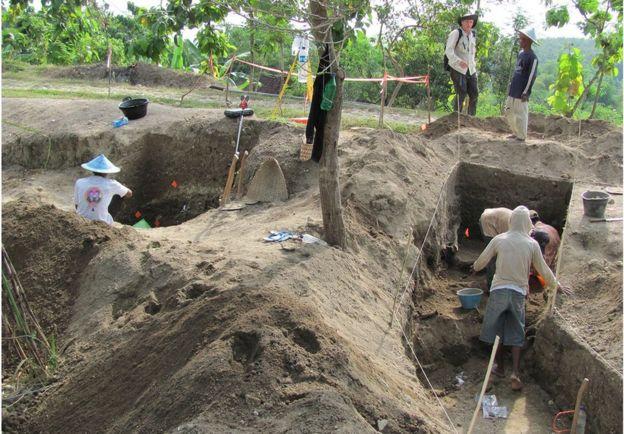 حفاری در نگاندونگ در سال ۲۰۱۰