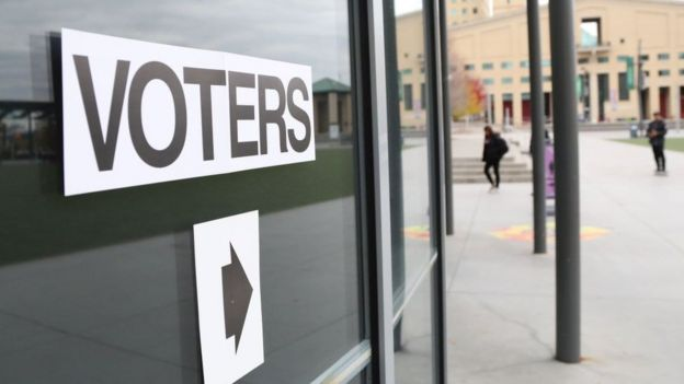Voters sign