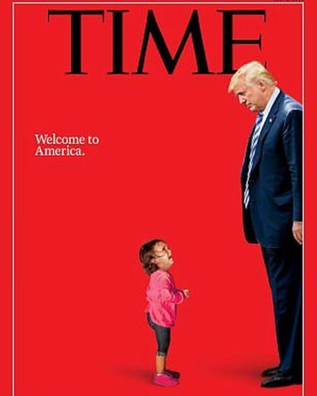صورة الطفلة الهندوراسية الباكية على الحدود الأمريكية التي أصبحت رمزا لسياسات الرئيس الأمريكي دونالد ترامب تجاه المهاجرين.