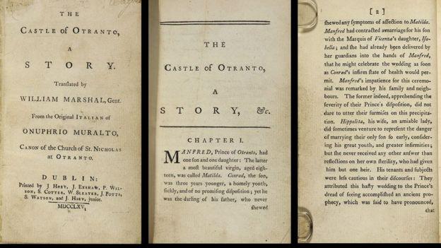 Primera edición de El castillo de Otranto