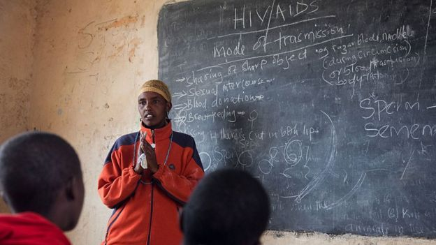 A lesson about HIV and Aids in Kenya's Loita Hills