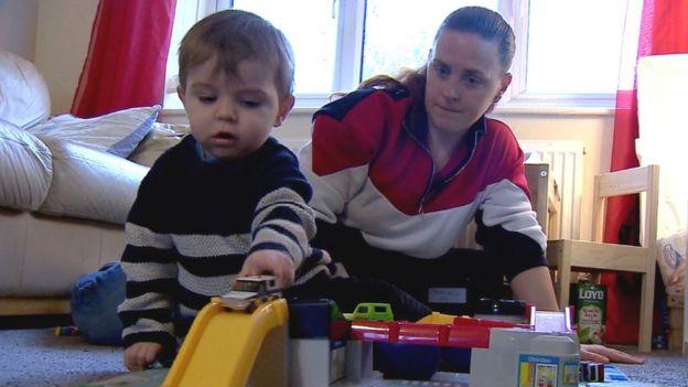 Vicki Miller and son Charlie