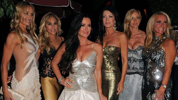 Lisa Vanderpump y el resto del elenco original de Real Housewives of Beverly Hills