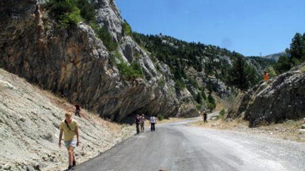 Rochas nos Montes Tauru, na Turquia