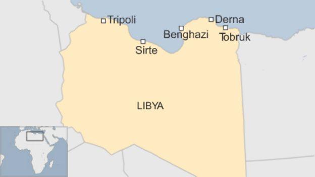Islamic State \'forced out\' of key Libyan city of Derna - BBC News