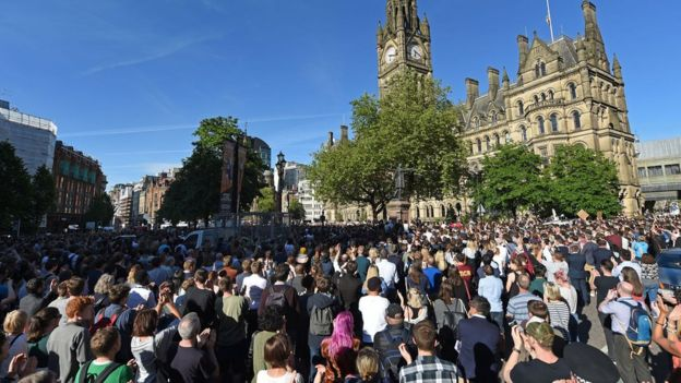 Vigil in Albert Square